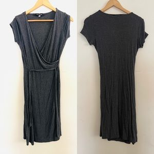 Velvet Torch | Dark Gray Wrap Style Dress Sz L